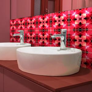 Sharon's Petals (tiled) backsplash